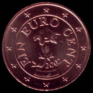 1 cêntimo euro Áustria