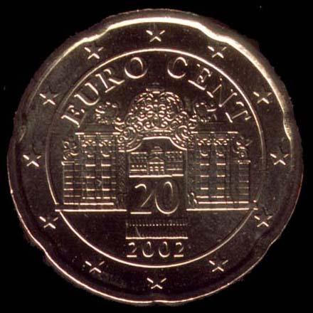 20 cêntimos euro Áustria