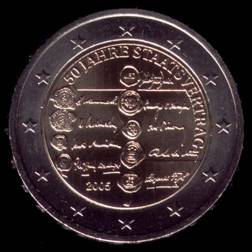 2 euro comemorativa Áustria 2005