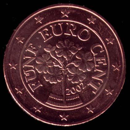 5 cêntimos euro Áustria