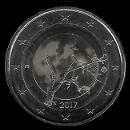 pièce de 2 euro commémorative de la Finlande 2017