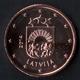 1 céntimo euro Letonia