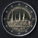 2 euro comemorativo Letónia 2014
