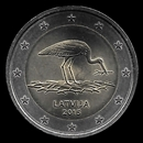 2 euro comemorativo Letónia 2015
