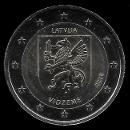 2 euro comemorativo Letónia 2016
