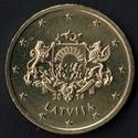 50 céntimos euro Letonia