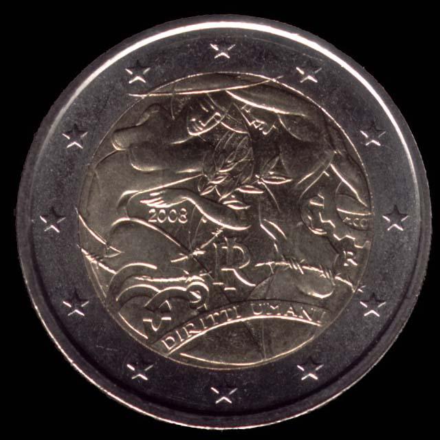 2 euro commemorativi 2008 Anniversario della Dichiarazione