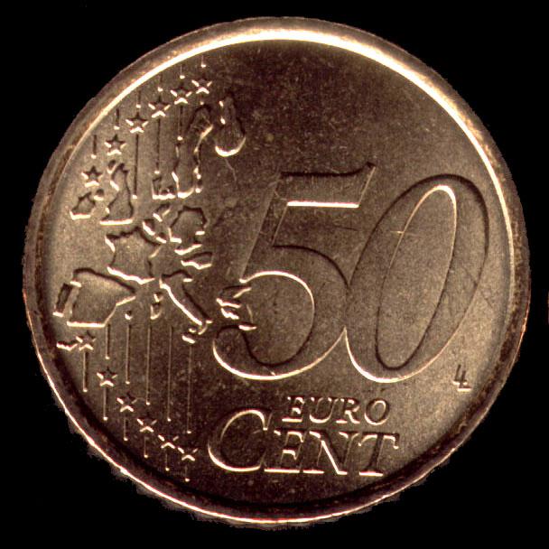 Moneta da 50 centesimi di euro for Moneta 50 centesimi