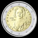 2 euro comemorativo São Marino 2018
