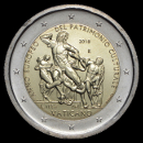 2 euro conmemorativos Vaticano 2018